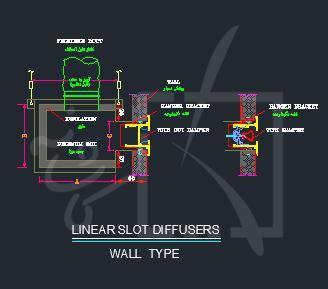جزییات اجرایی دریچه های خطی -2 (دریچه های خطی دیواری)